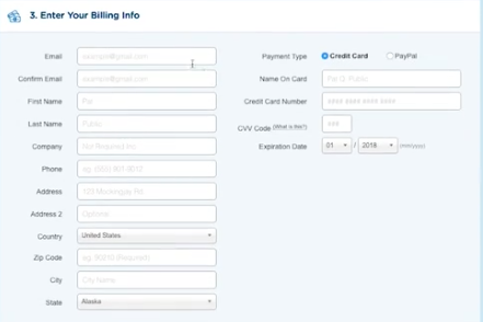 Enter Your Billing Info