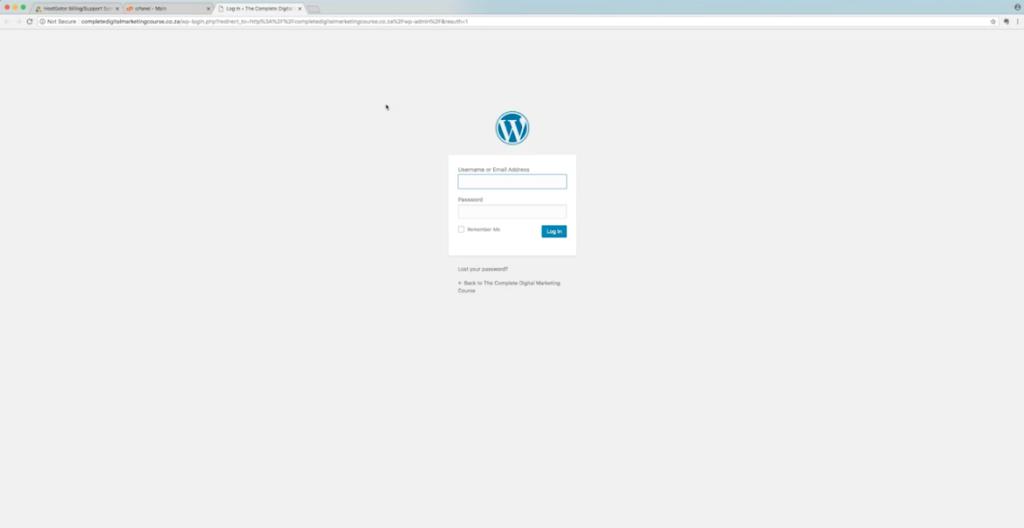 DMwithKarl WordPress Login Page