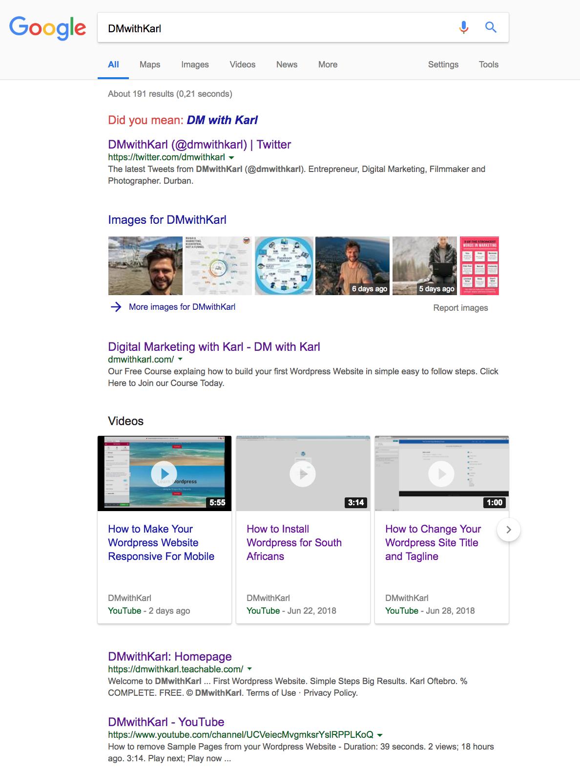 Google DM with Karl Digital Marketing