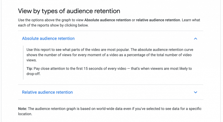Audience Retention Focus on the first 15 seconds