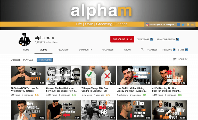Alpha M YouTube Channel