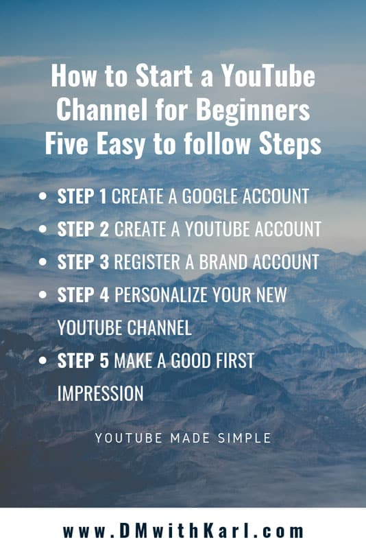 How-to-start-a-YouTube-Channel-for-Beginners-DMwithKarl Karl Oftebro